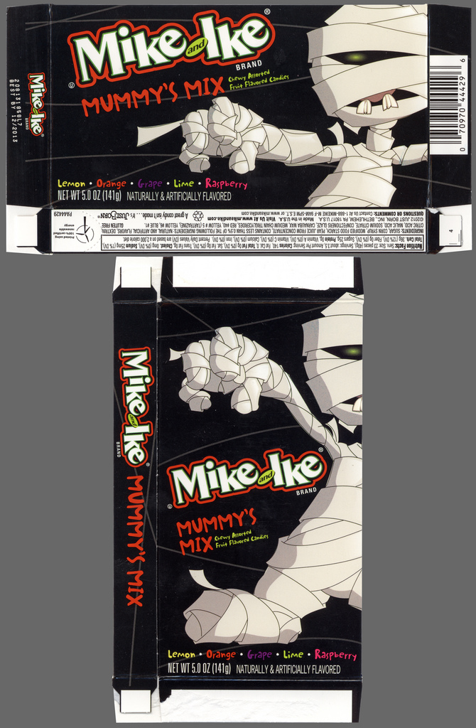 Just Born - Mike and Ike Mummy's Mix - Halloween candy box - October 2012