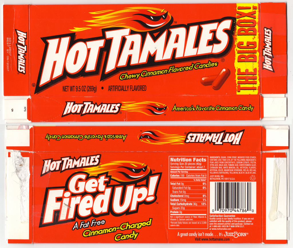 JustBorn - Hot Tamales THE BIG BOX box - 2007