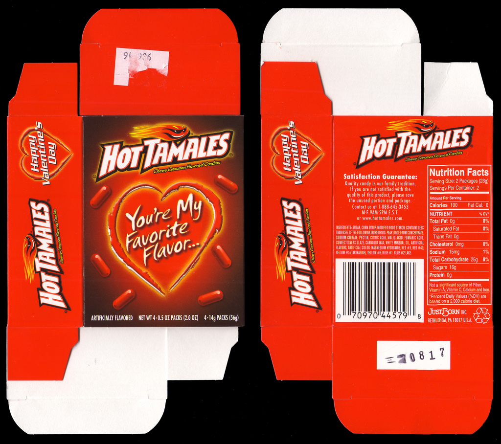 Just Born - Hot Tamales Valentines Day box - 2008