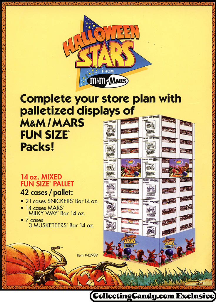M&M_Mars_1993_Halloween Stars Pallette display - promotional flyer - page 01 - front