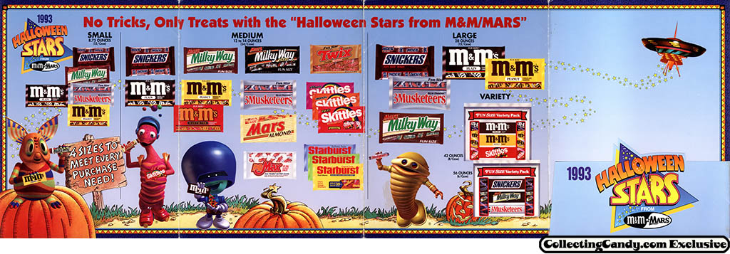M&M_Mars_1993_Halloween Stars promotional brochure - page 02-05 unfolded