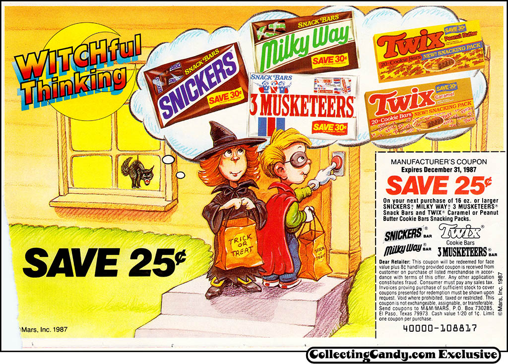 M&M/Mars - Dove Bar - Halloween candy newspaper circular coupon - 1987