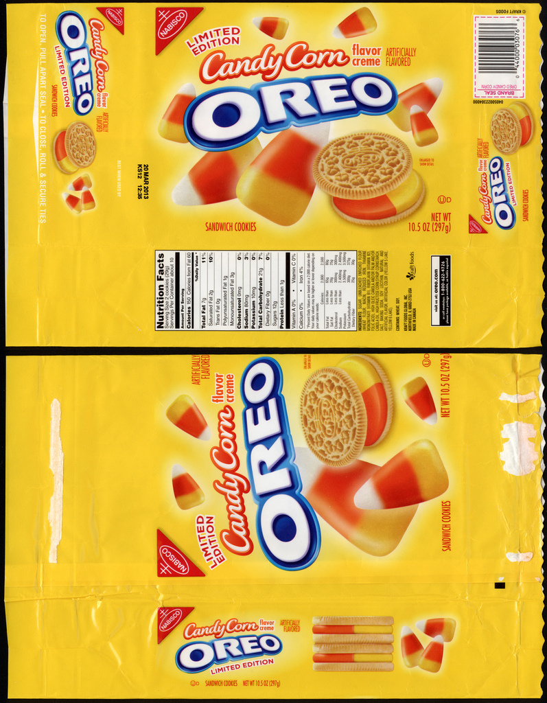 Nabisco - Oreo Candy Corn flavor - Target Exclusive - cookie package - October 2012