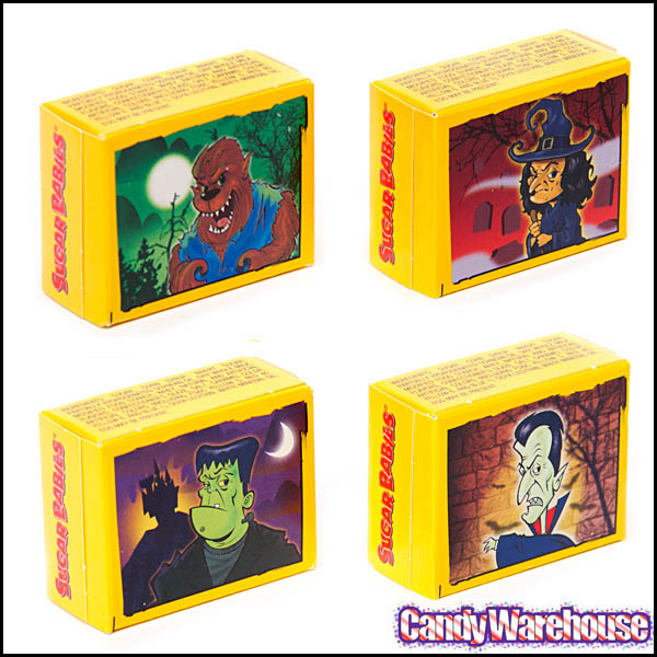 Sugar Babies 2013 Halloween boxes - Source CandyWarehouse.com