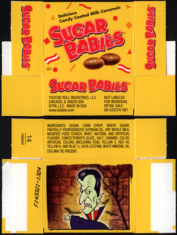 Tootsie Roll Industries - Sugar Babies - Dracula - treat-size Halloween candy box - 2013