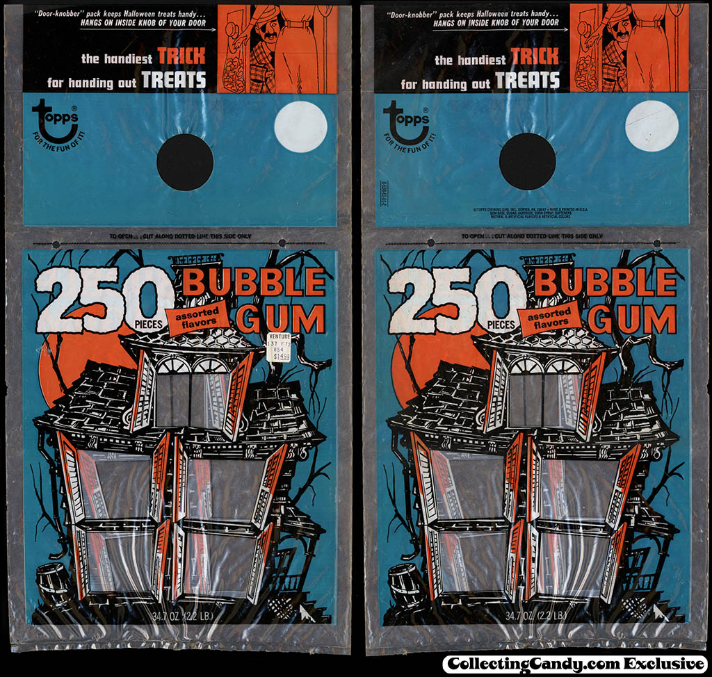 Topps - Halloween 250 piece bubble gum door hang package - 1972
