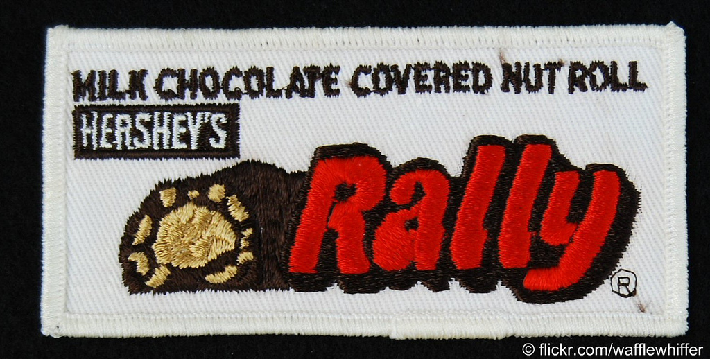 Vintage Rally bar embroidered patch - 1970's - Image Courtesy Brandon Coker