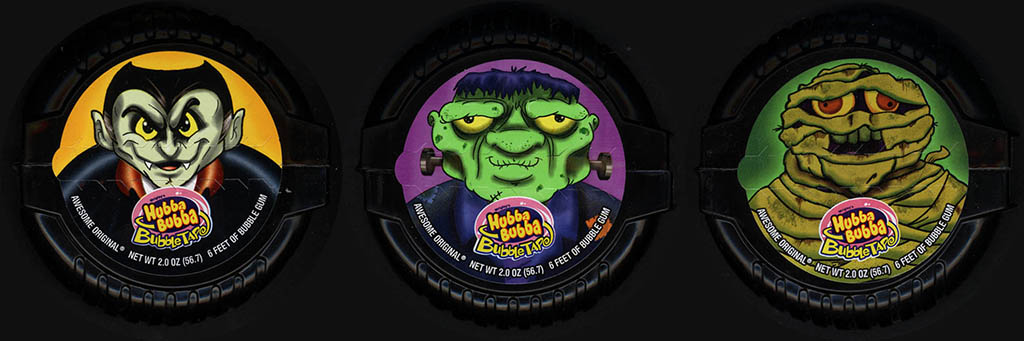 Wrigley - Hubba Bubba Bubble Tape Halloween bubble gum candy dispensers - 2012