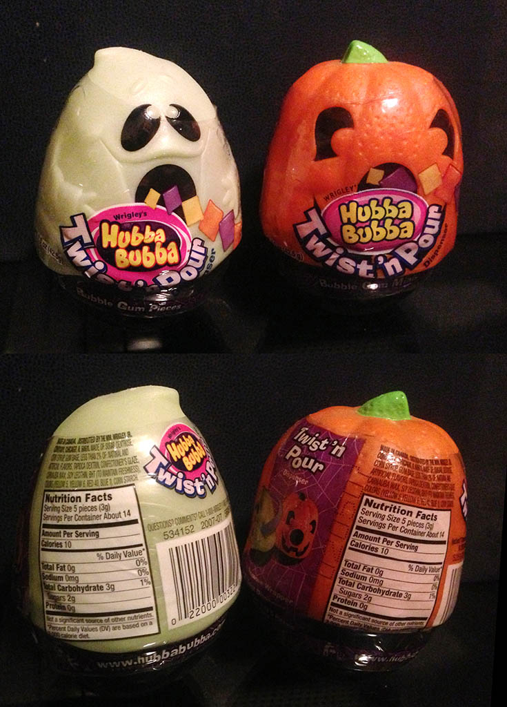 Wrigley's Hubba Bubba Twist 'n Pour bubble gum Halloween dispensers - 2006