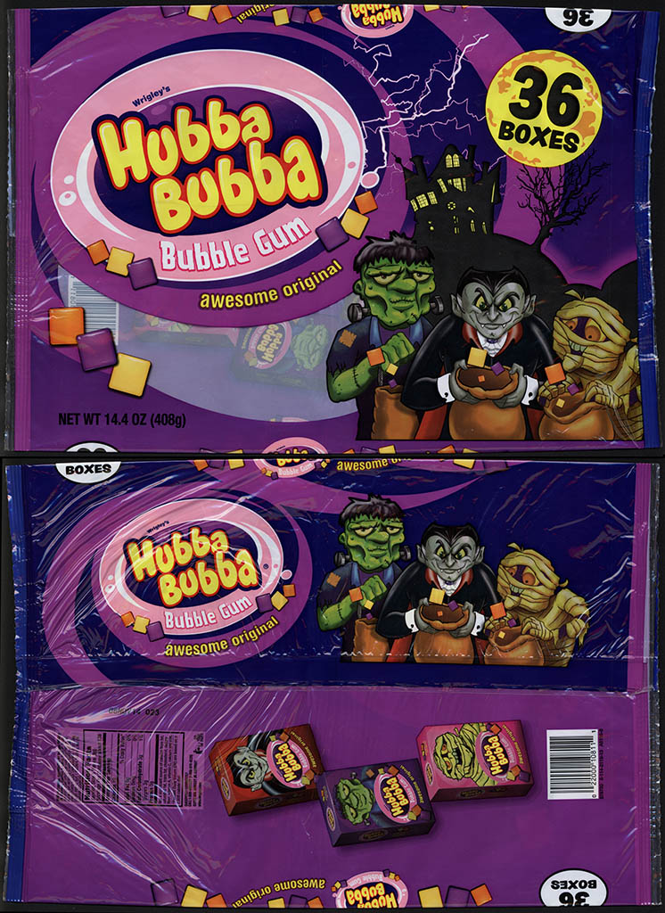 Wrigley's Hubba Bubba - bubble gum - Halloween gum boxes - 36-count package - 2013