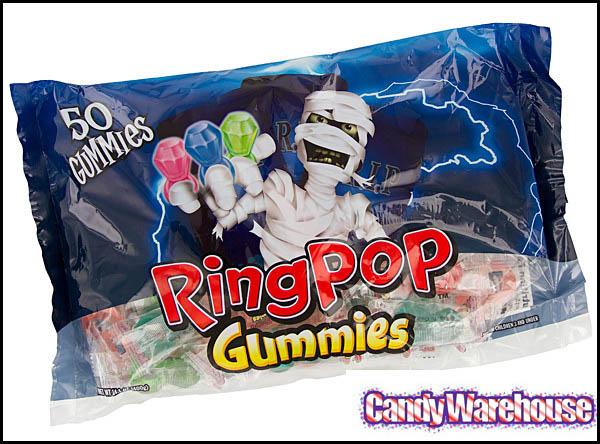 Topps/Bazooka - Halloween Ring Pop Gummies - Image courtesy Candywarehouse.com