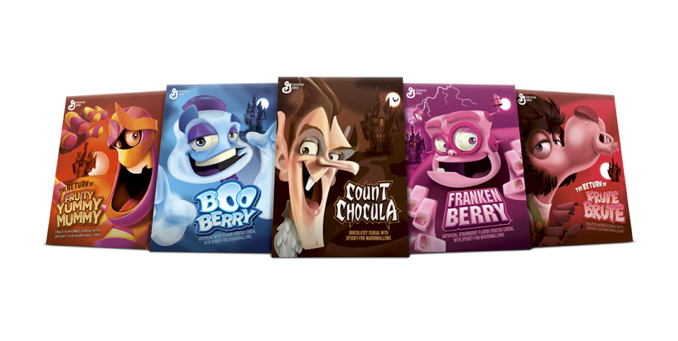 General Mills - Monster Cereal lineup for 2013