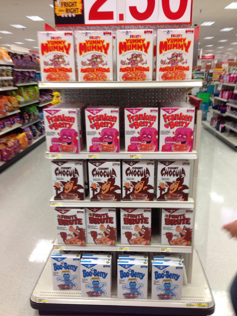 General Mills Retro Monster Cereal assortment at Target - Halloween 2013