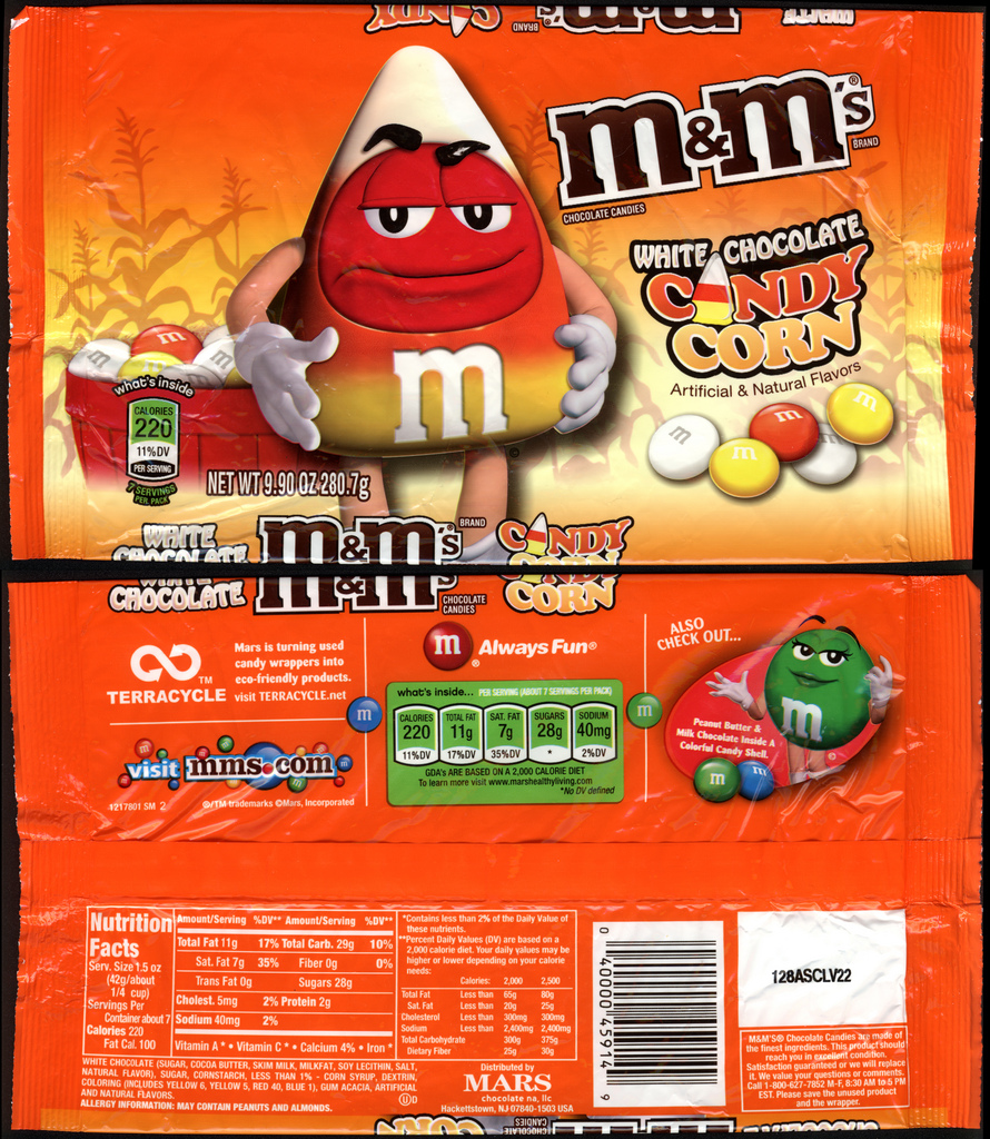 M&M's Candy Corn - 9_9 oz pack - Fall 2011