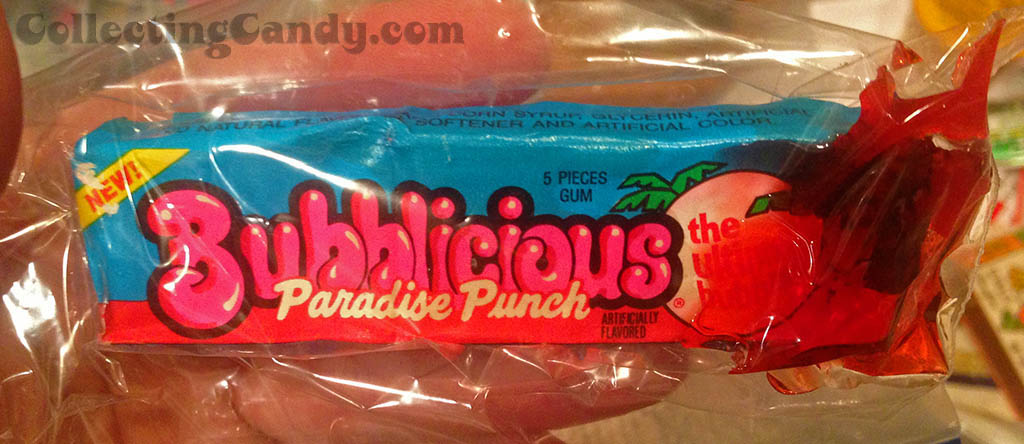Bubblicious Paradise Punch pack - leaking gum syrup - 1990's
