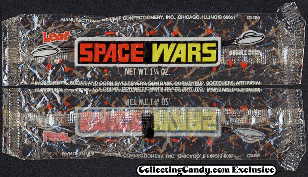Leaf - Space Wars bubble gum - 1 1/4 oz cello package - 1978