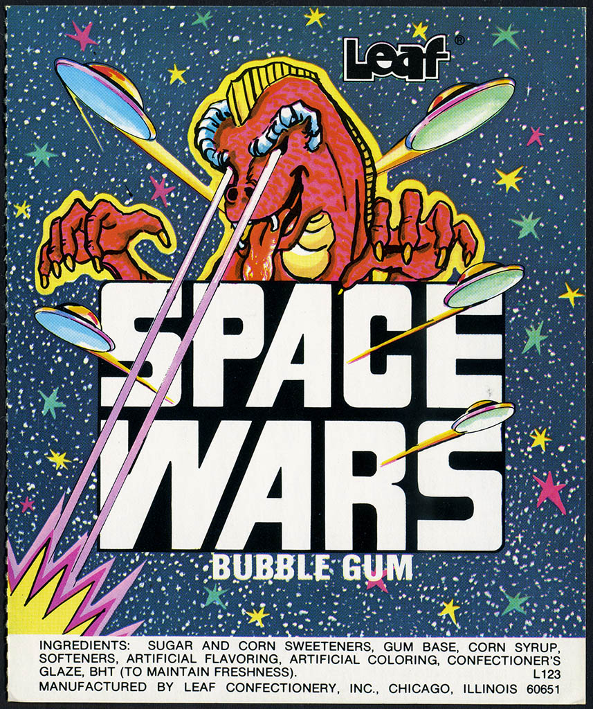 Leaf - Space Wars bubble gum - candy machine vending insert card - circa 1978