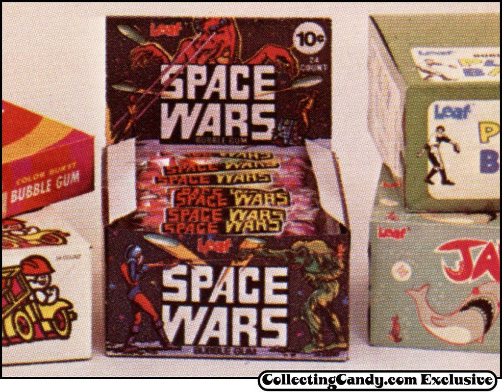 Leaf - Space Wars bubble gum - display box photo from trade ad - 1978