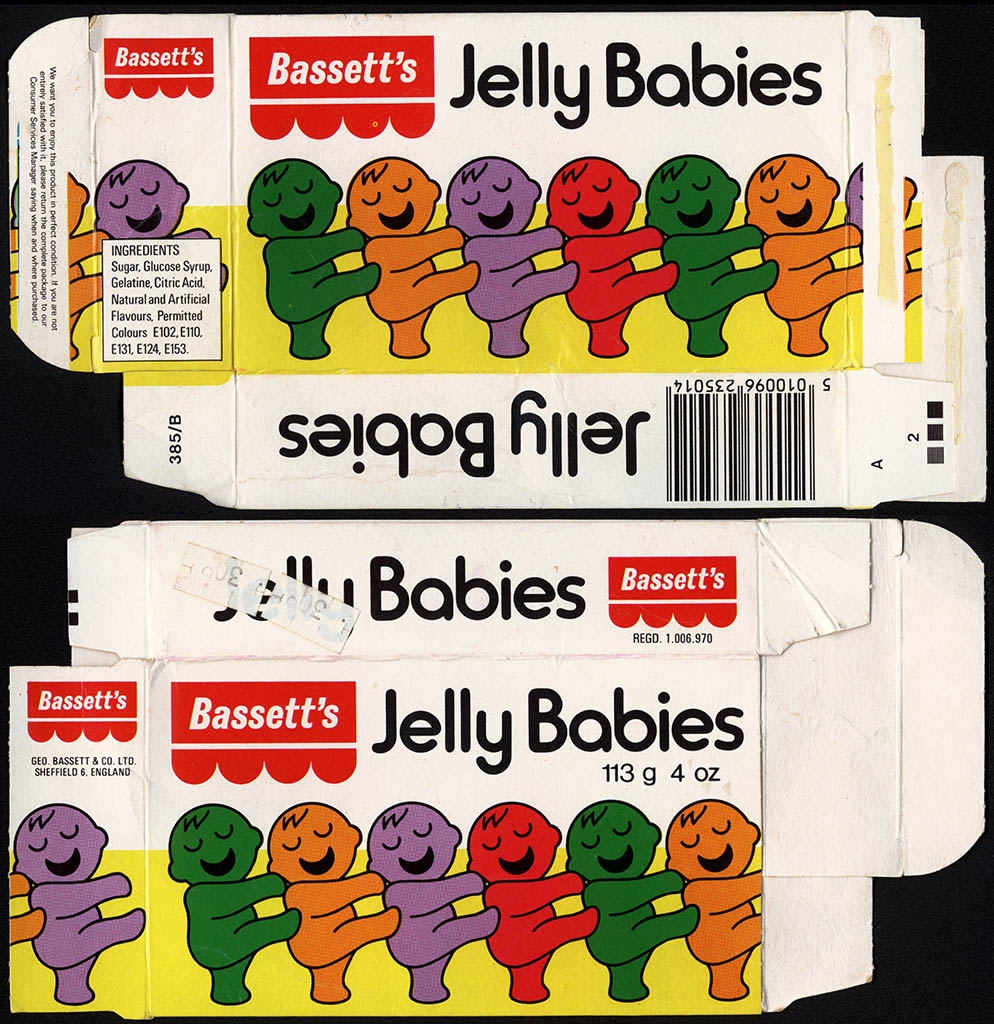UK - Bassett's - Jelly Babies candy box - 1970's to early 1980's