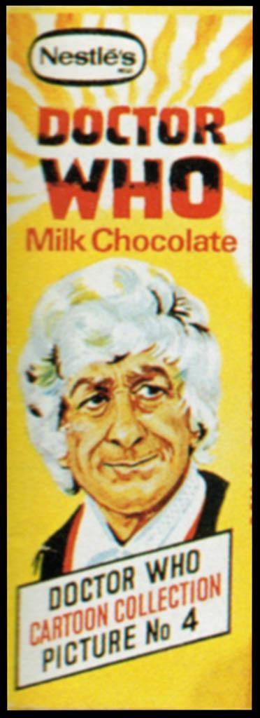 UK - Early 70's Jon Pertwee Nestle Doctor Who wrapper