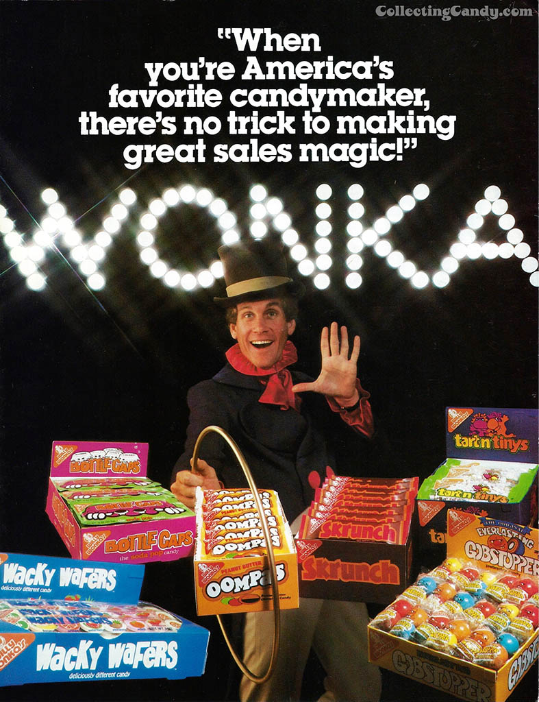 Willy Wonka Brands - America's Favorite Candymaker - candy trade ad - 1981 - courtesy Mark Sweet