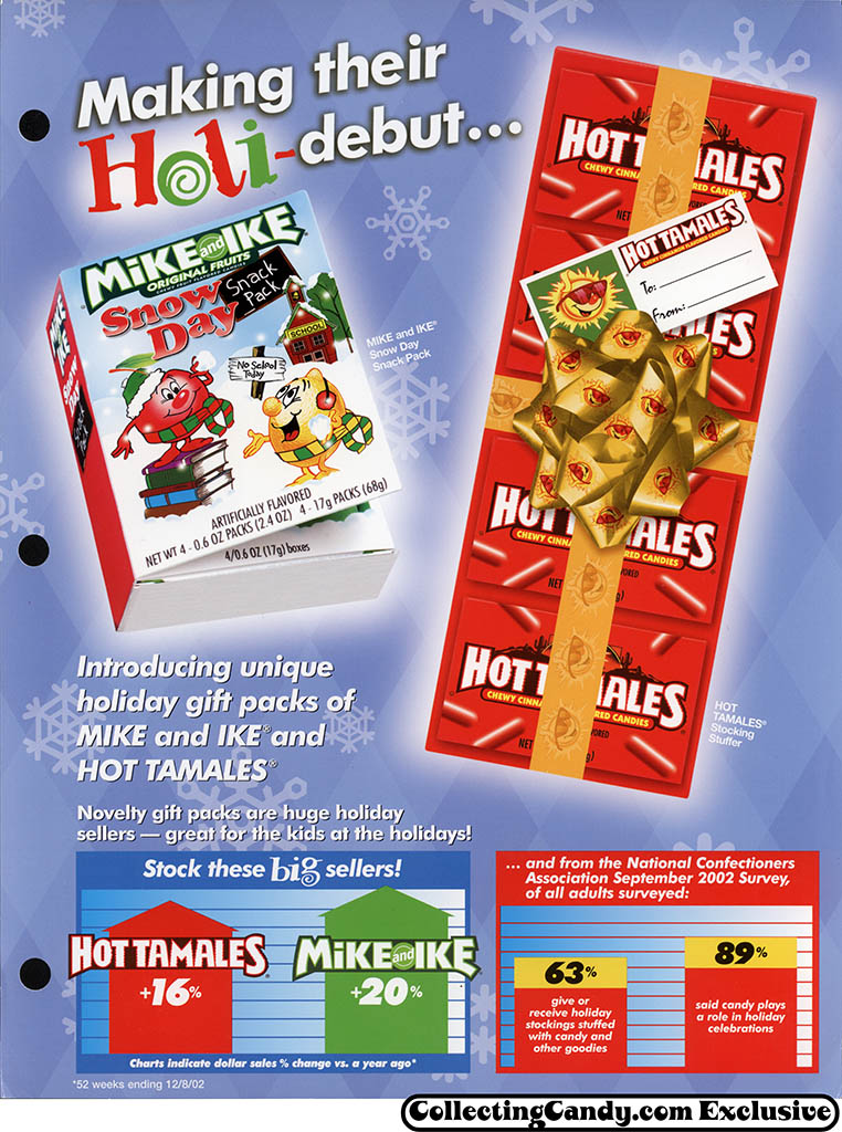 _Just Born - Holiday Mike and Ike & Hot Tamales flyer front - 2003
