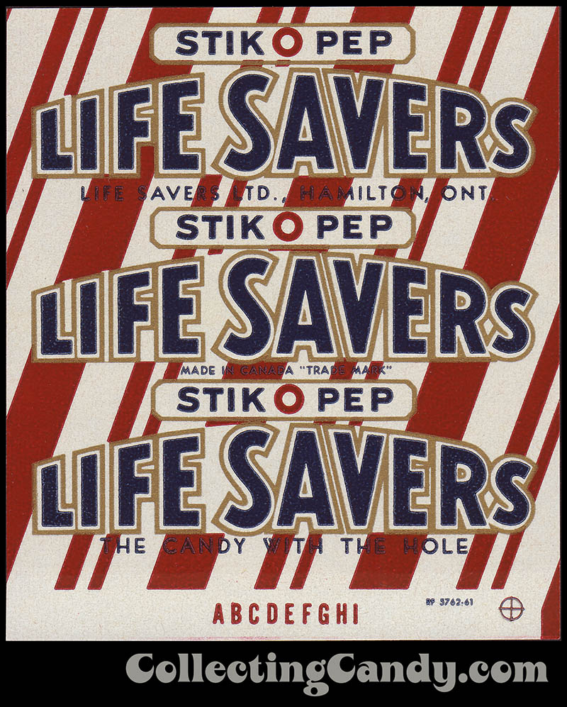 LifeSavers - Canadian StickOPep - 1950's