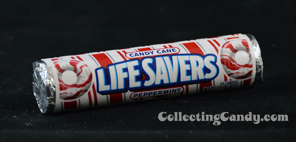 Lifesavers Candy Cane Peppermint - candy roll photo - December 2013