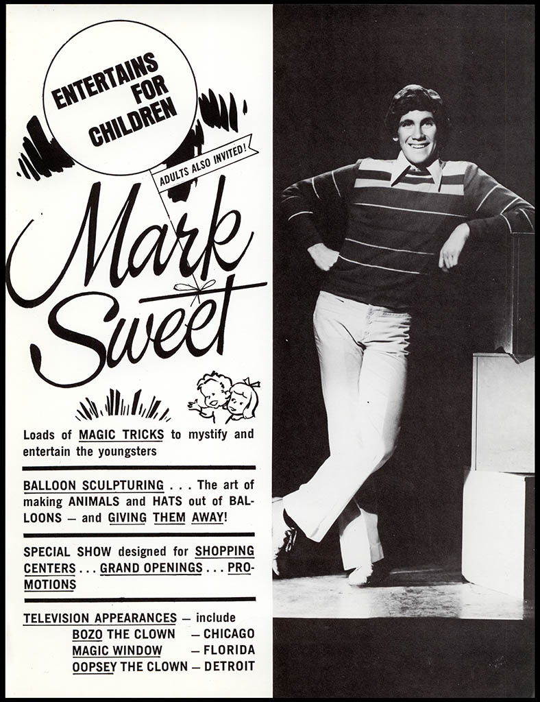 Mark Sweet pre-Wonka publicity flyer - circa 1970