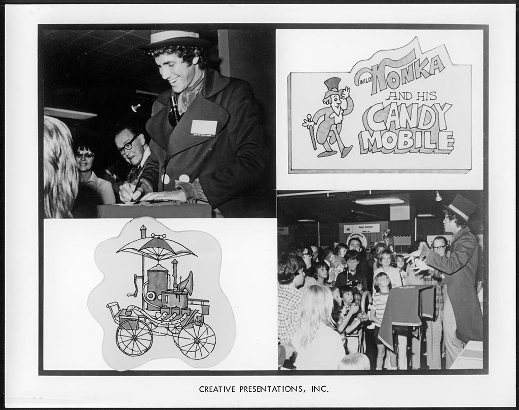 MarkSweet_Willy Wonka and his CandyMobile - Creative Presentations promo photo - circa 1970's