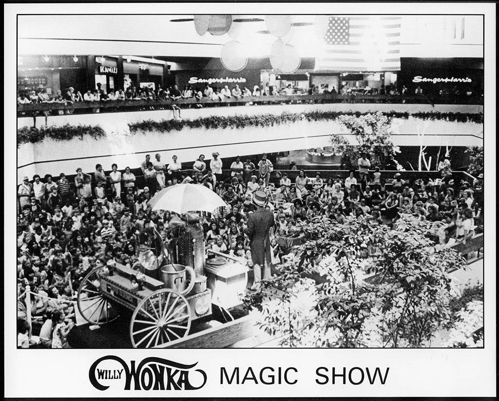 MarkSweet_Willy Wonka and his CandyMobile - Shopping Mall Magic Show promo photo - 1970's - Courtesy Mark Sweet