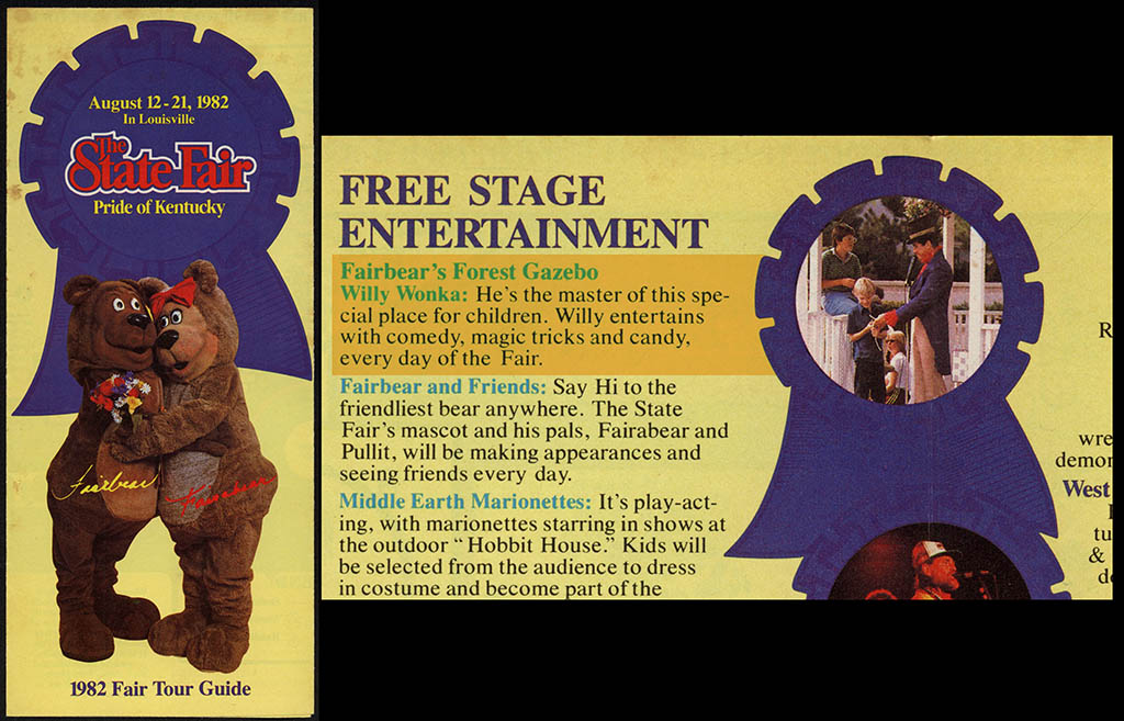 Willy Wonka Kentucky State Fair appearance - 1982 - courtesy Mark Sweet