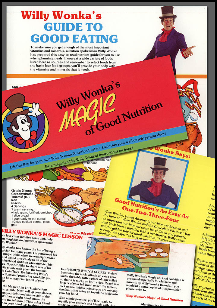 Willy Wonka's Guide to Good Eating and Nutrition - early 1980's - courtesy Mark Sweet