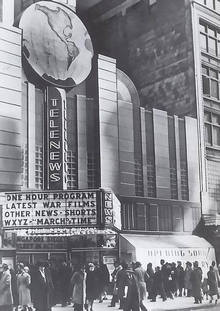 Telenews Theater - Detroit Michigan - circa 1945