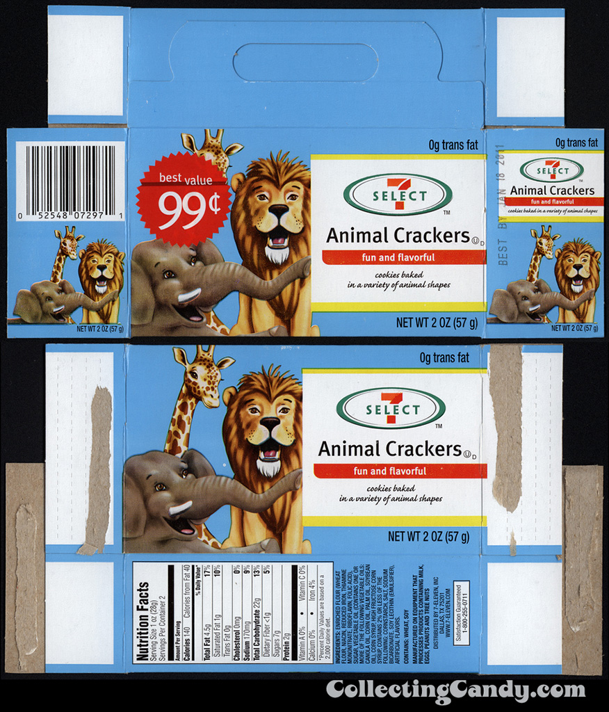 7-Eleven - 7-Select Animal Crackers box - 2010