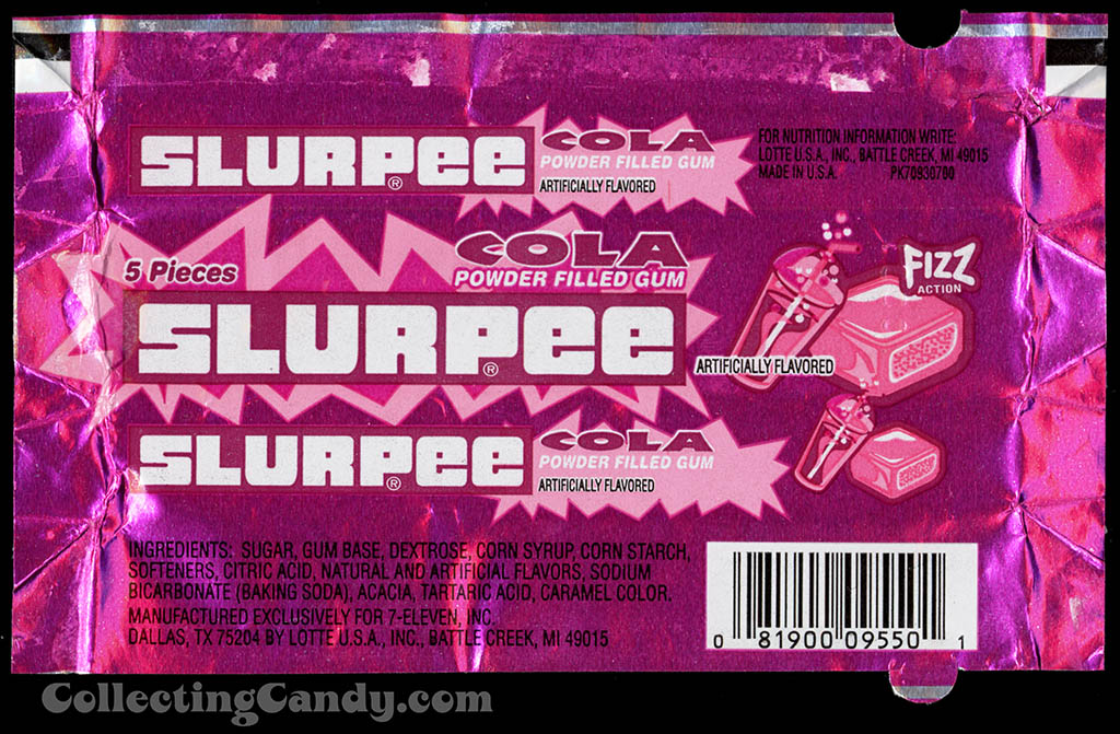 7-Eleven - Lotte - Slurpee - Cola - powder filled gum - foil gum wrapper - 2002