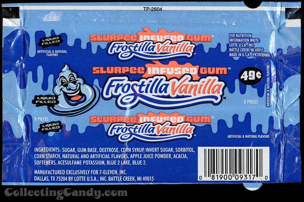 7-Eleven - Lotte - Slurpee Infused Gum - Frostilla Vanilla - liquid filled - 49-cent gum wrapper - 2003