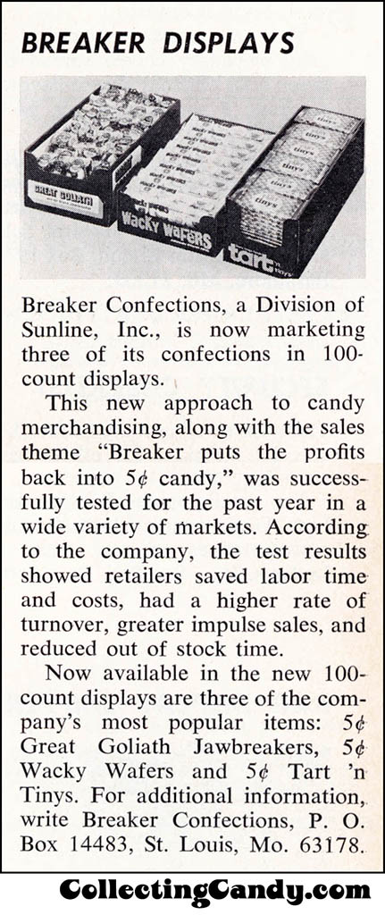 Breaker-Tart-N-Tinys-Great-Goliath-trade-clipping - November-1971
