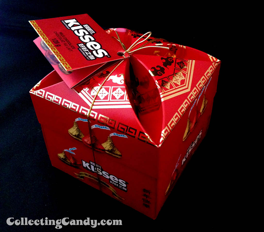 Canada - Hershey - Hershey's Kisses - Chinese New Year celebration box - top view - January 2014