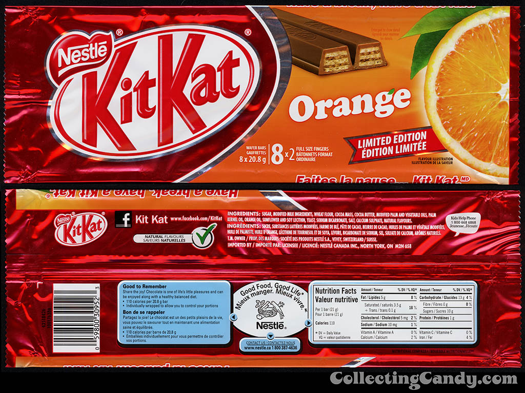 Canada - Nestle - Kit Kat Orange - Chinese New Year celebration - 8-pack inner foil wrapper - January 2014
