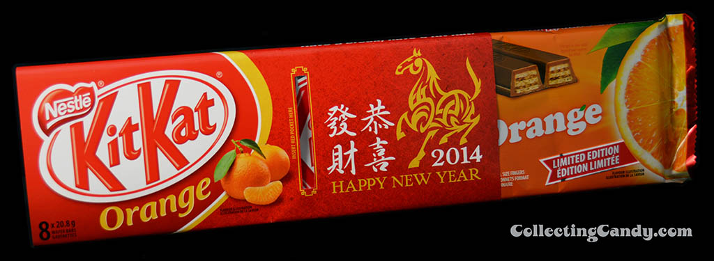Canada - Nestle - Kit Kat Orange - Chinese New Year celebration - inner pack revealed - January 2014