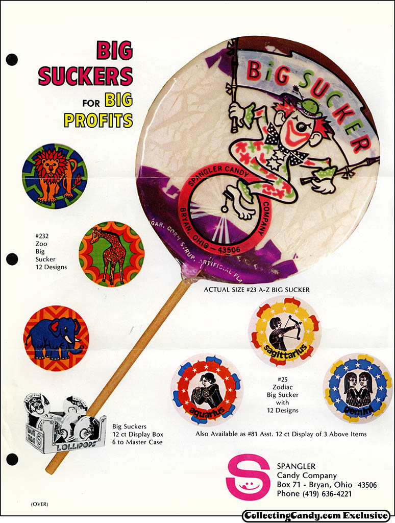 Spangler - Big Suckers for Big Profits - promotional candy flyer - early 1970's