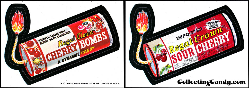 Wacky Packages Regal Clown Regal Crown comparison