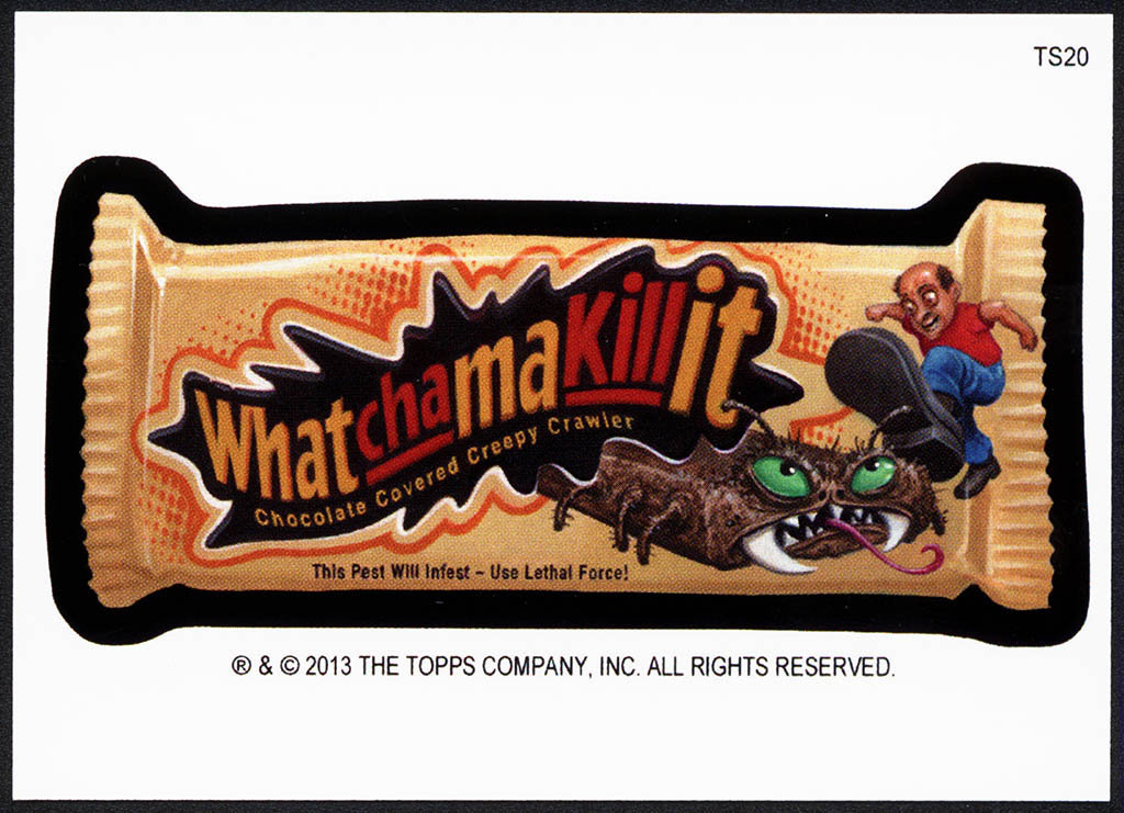 Wacky Packages - Whatchamakillit - 2013 Halloween Postcards bonus card