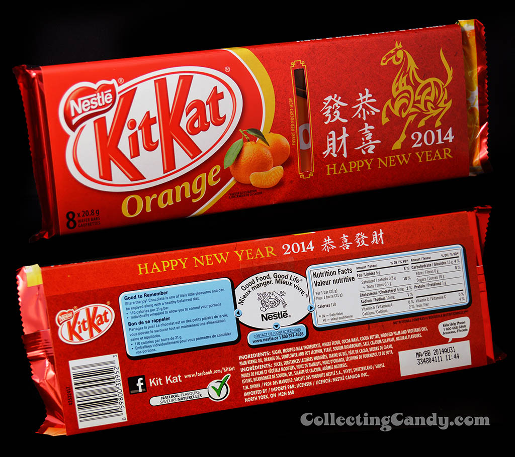 Canada - Nestle - Kit Kat Orange - Chinese New Year celebration - 8-pack candy package and sleeve - January 2014