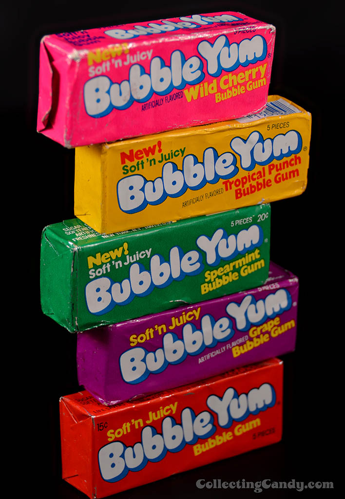 Bubble Yum Packs of the 1970's