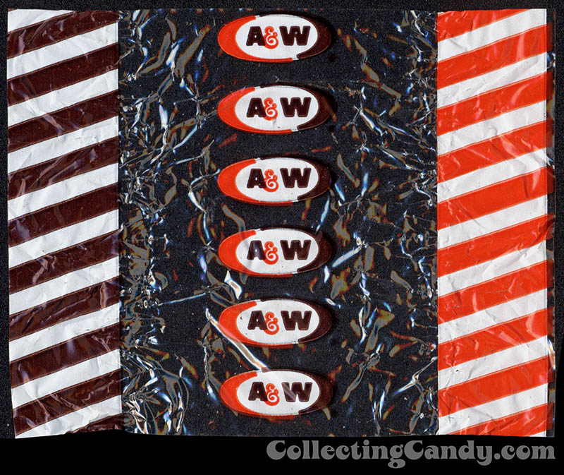 A&W - Root Beer Barrel - cellophane candy wrapper - 1980's