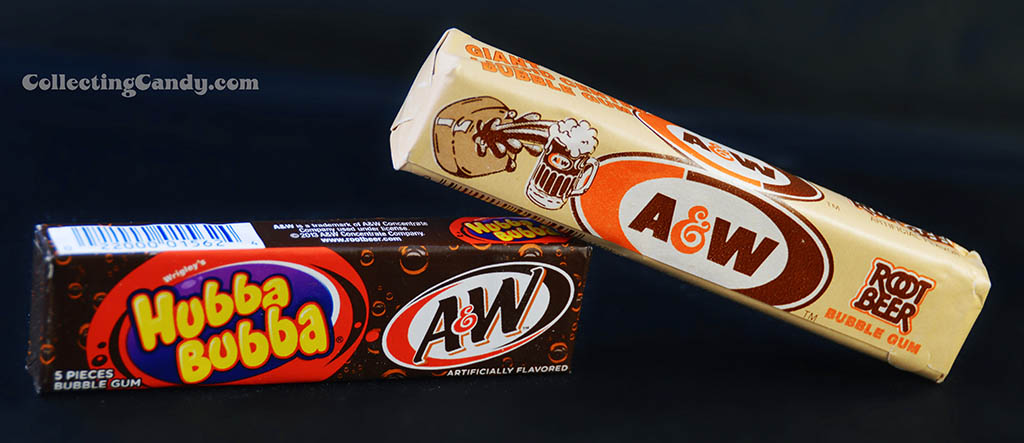 A&W Root Beer gum packs - new and old