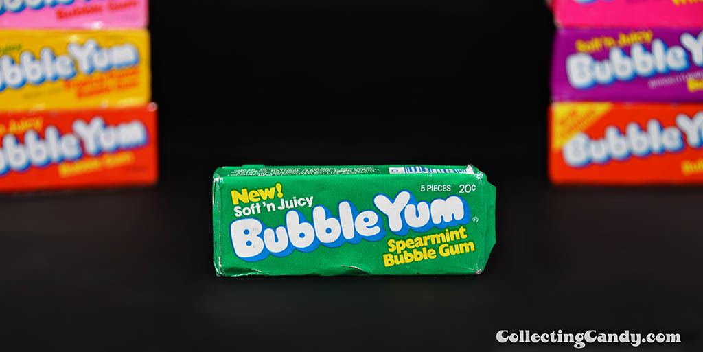 Bubble Yum - New Soft 'n Juicy - Spearmint bubble gum unopened pack - 1978