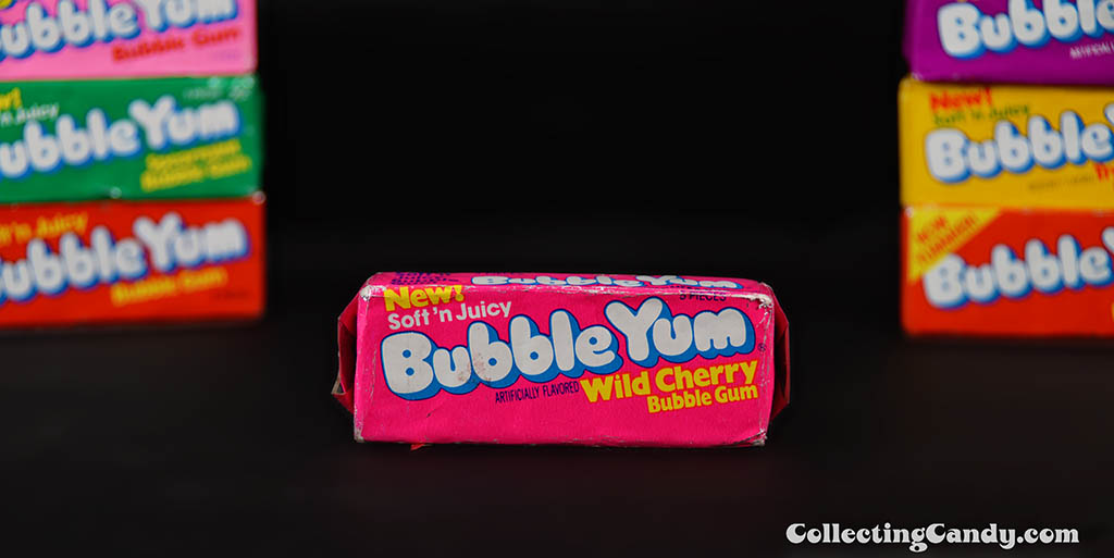 Bubble Yum - New Soft 'n Juicy - Wild Cherry bubble gum unopened pack - 1979